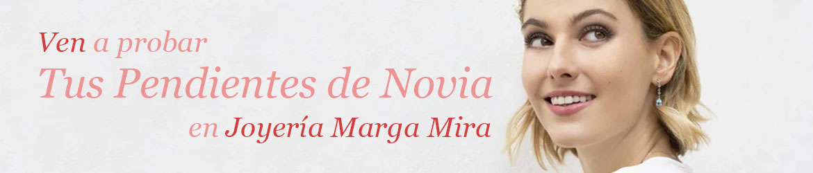 pendientes novia - pendientes para novia - where to buy online wedding earrings - joyeria marga mira
