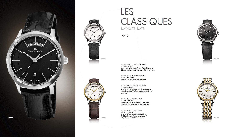 Reloj Maurice Lacroix Les Classiques LC1007-SS001-330 - reloj hombre acero inoxidable piel - esfera negra - joyeria marga mira