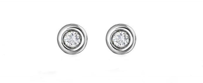 pendientes oro dormilonas de diamantes