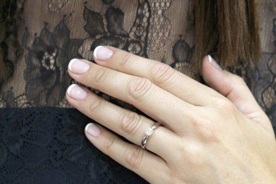 charlotte anillo solitario oro blanco diamante - anillos de pedida - joyeria marga mira