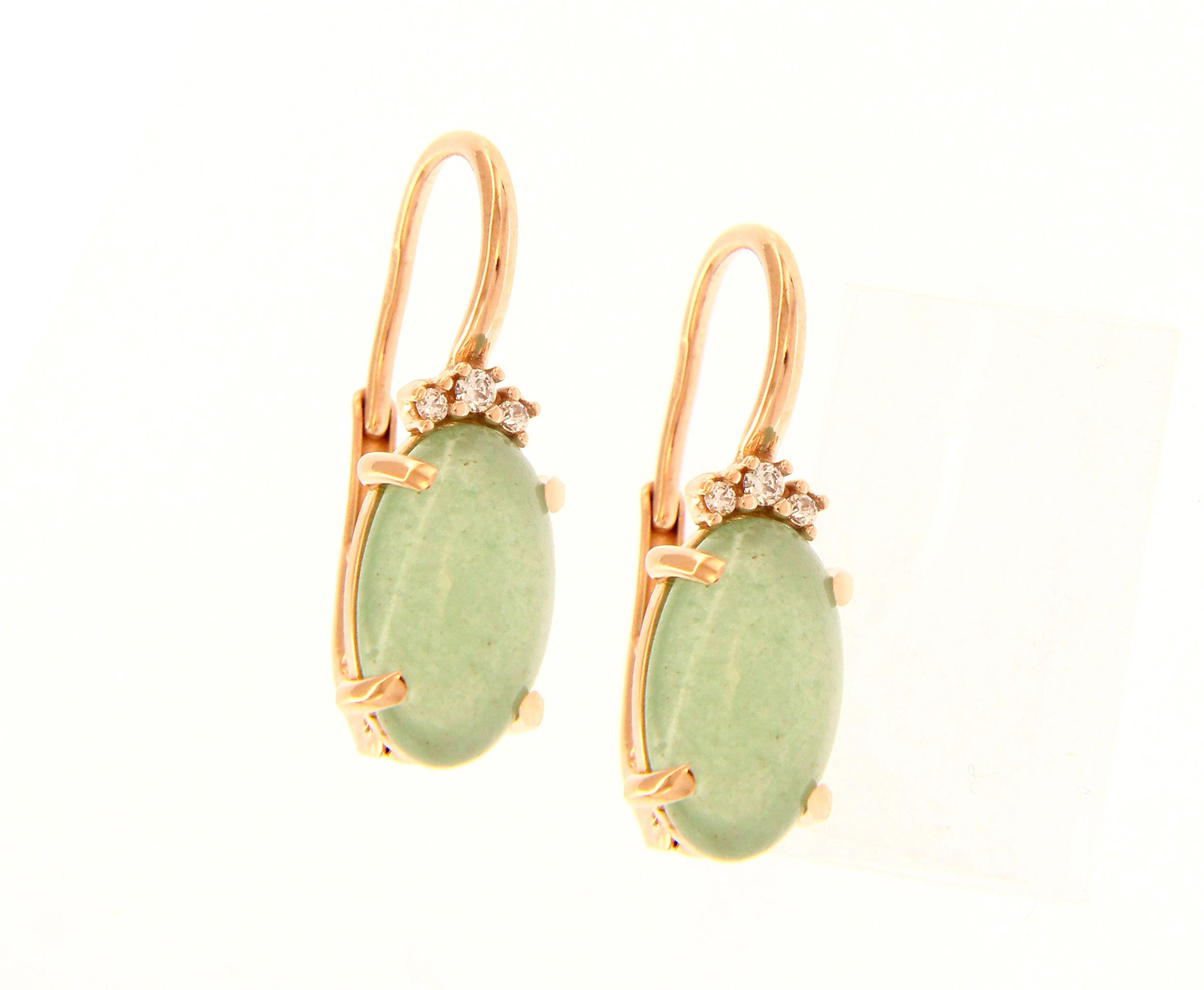 pendientes mujer oro agatas verdes - aretes mujer piedras verdes - gold earrings to buy online - joyeria marga mira
