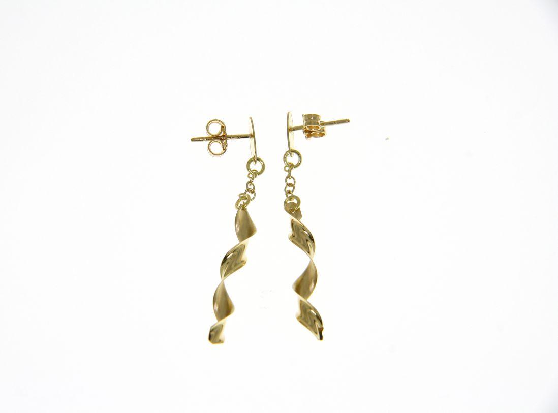 pendientes mujer largos oro amarillo - aretes oro originales - gold earrings to buy online - joyeria marga mira