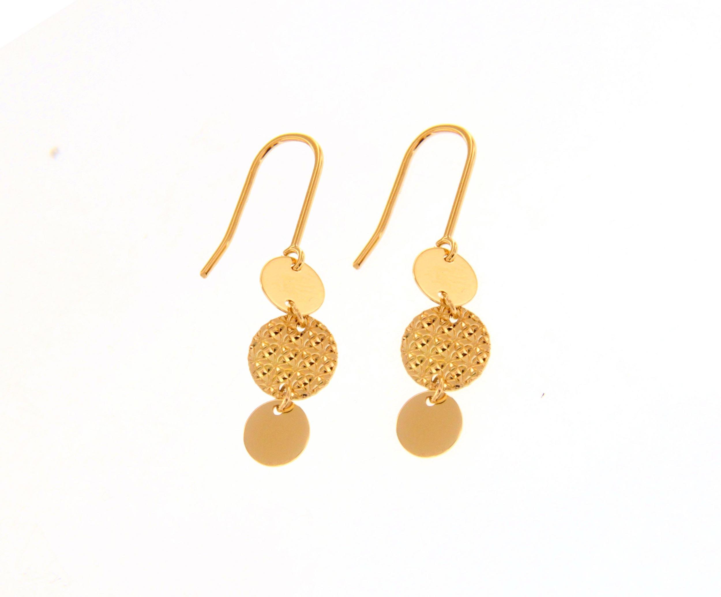 pendientes de gancho oro amarillo - aretes oro originales - gold earrings to buy online - joyeria marga mira