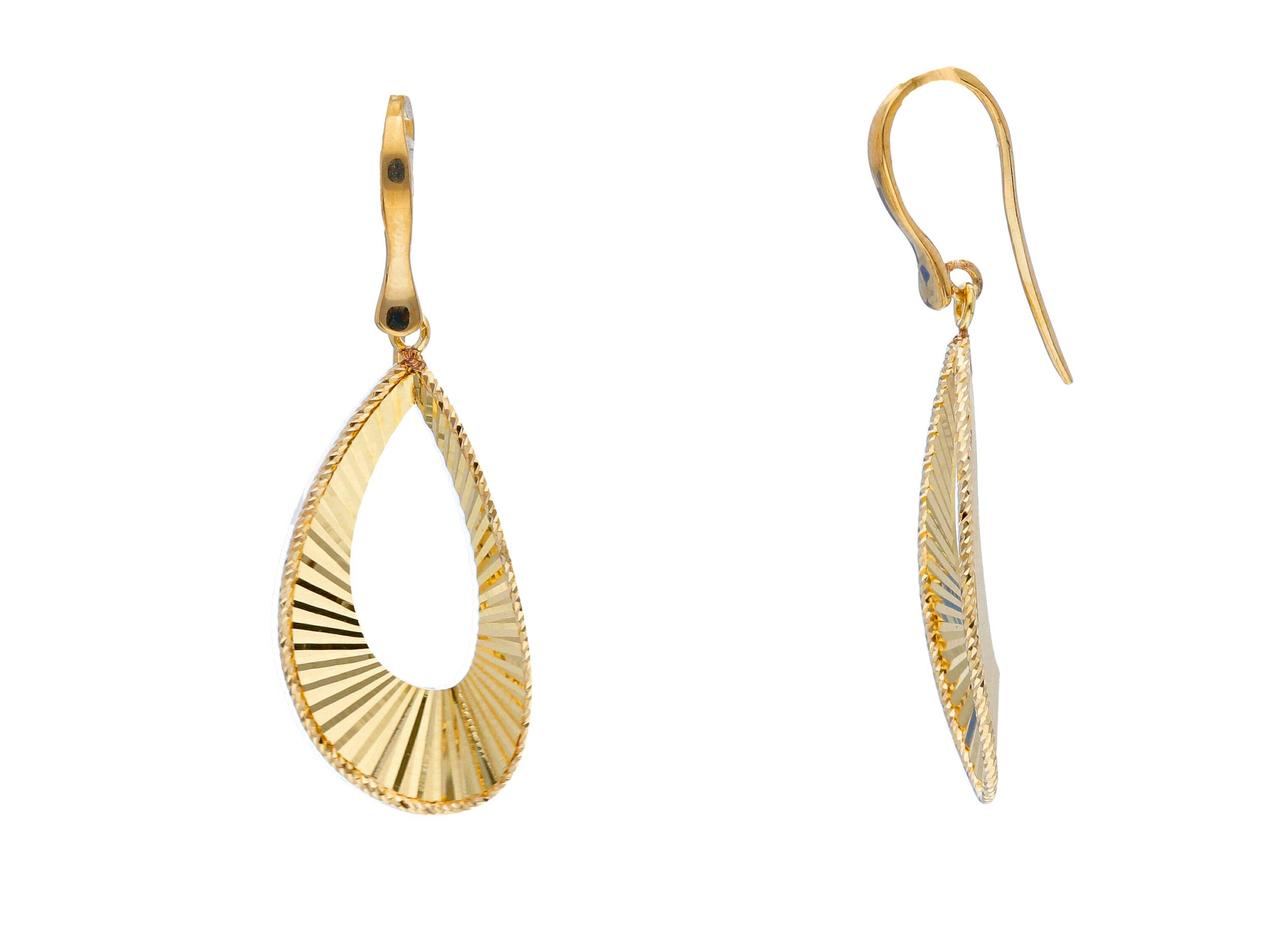 pendientes de gancho oro amarillo - aretes oro originales - gold earrings to buy online - joyeria marga mira