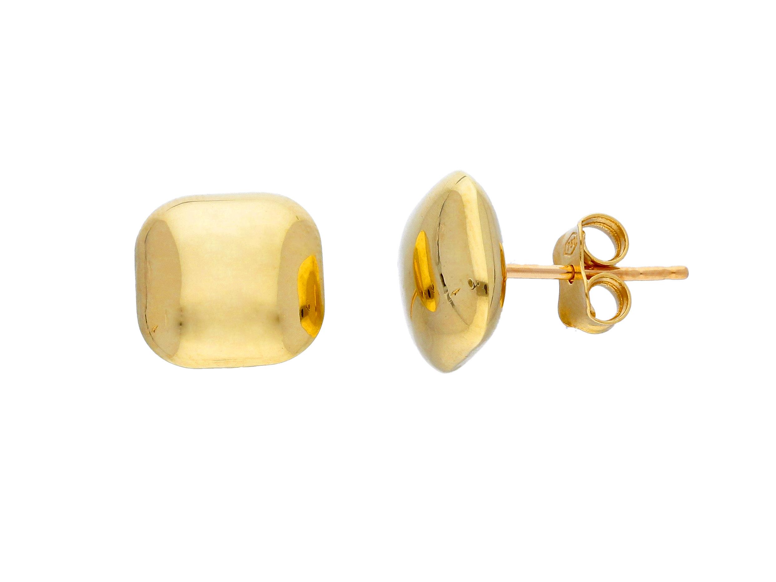 pendientes oro cuadrados - aretes mujer originales - gold earrings to buy online - joyeria marga mira
