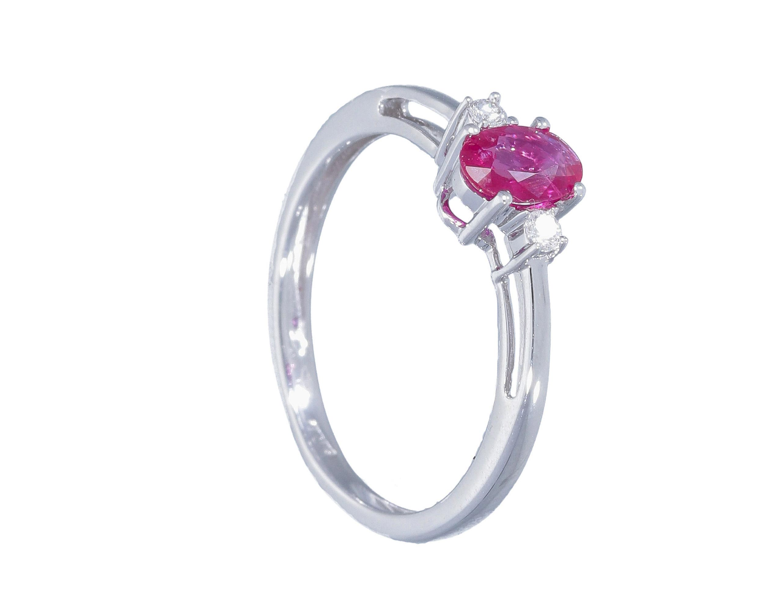 anillo mujer oro rubi diamantes - anillos piedras color rosa - mejores joyerias online españa - joyeria marga mira